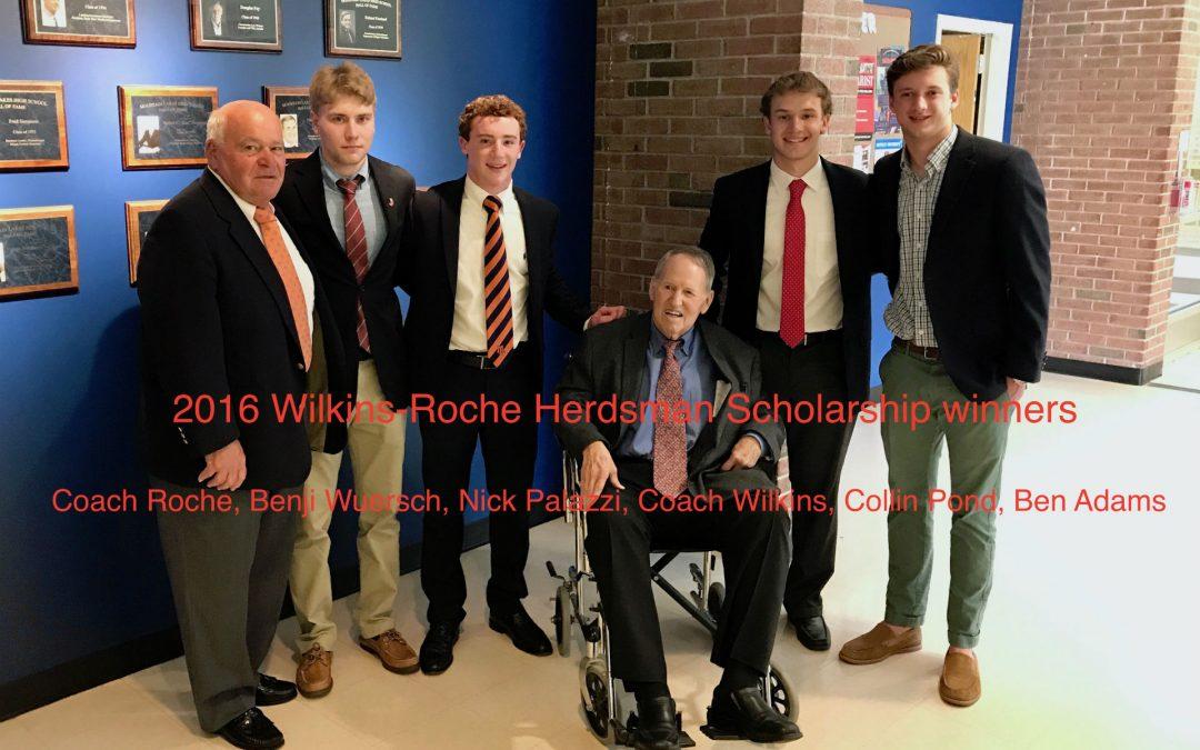 2016 Wilkins-Roche Herdsman Scholarship Winners