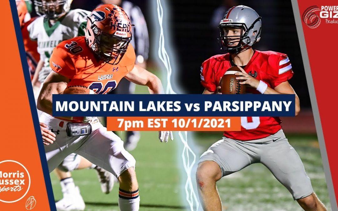 Game Livestream: Mountain Lakes vs. Parsippany 10/01/21